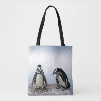 Black White Penguin Birds Animal Tote Bag
