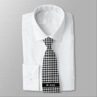 Black & White Personalized Pattern Neck Tie