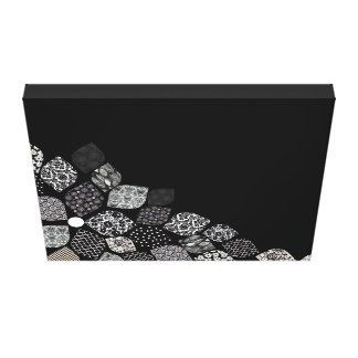 Black & White Petals Canvas Print