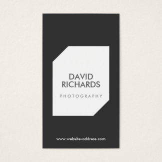 BLACK/WHITE PHOTO LOGO Photographer Business Card