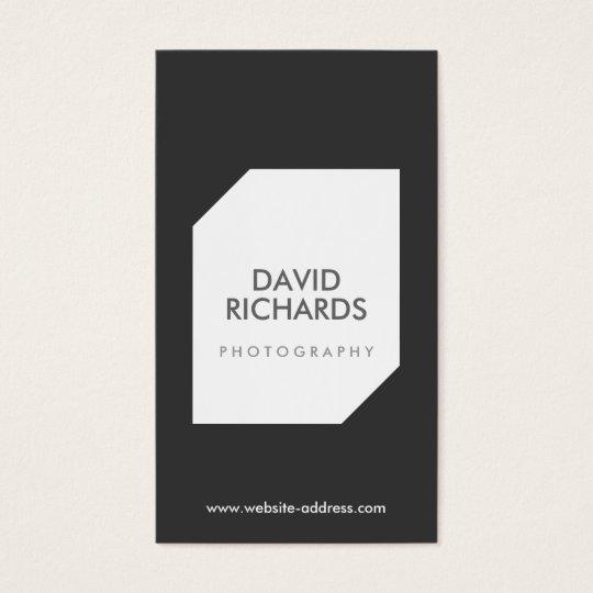 BLACK/WHITE PHOTO LOGO Photographer Business Card
