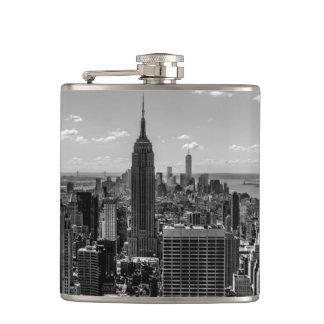Black & White Photo of the New York City Skyline Flask