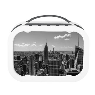 Black White Photo of the New York City Skyline Lunch Boxes