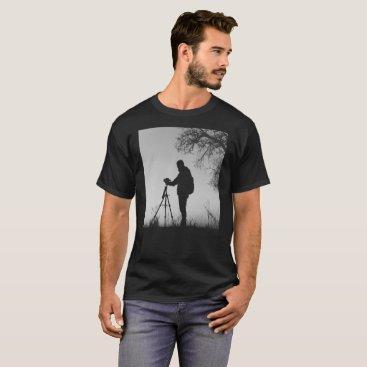 giftsnerd Black & White Photographer's Scene T-Shirt