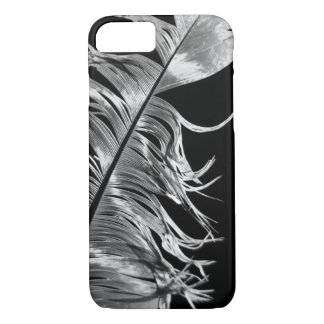 Black & White Photographic Feather Art iPhone 7 Case