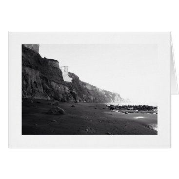 Beach Themed Black & White Photography- New Zealand Card