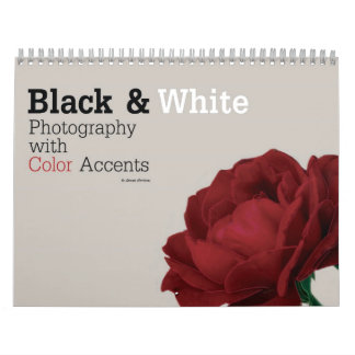 Black & White Photography with Color Accents Calendar