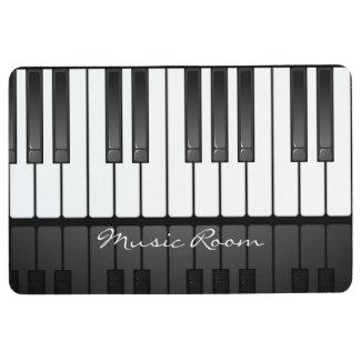 Black White Piano Keyboard Design Floor Mat