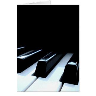 Black & White Piano Keys Card