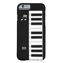 Black White Piano Keys Keyboard iPhone 6 Case at Zazzle