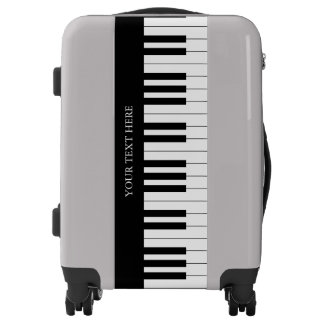 Black & White Piano Keys | Music Fan Gifts Luggage