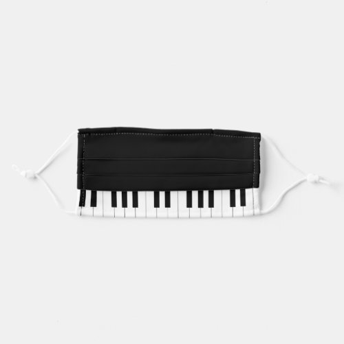 Black  White Piano Keys Pianist Pattern Adult Cloth Face Mask