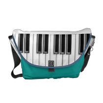 Black & White Piano Keys Rickshaw Messenger Bag