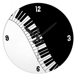 Black & White Piano Keys Wall Clock