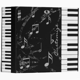 Black & White Piano Music Binder
