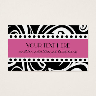 Black & White, Pink Business Card