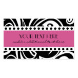 Black & White, Pink Double-Sided Standard Business Cards (Pack Of 100)