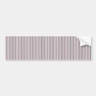 Black White Pink Stripes - Retro Pattern Bumper Sticker