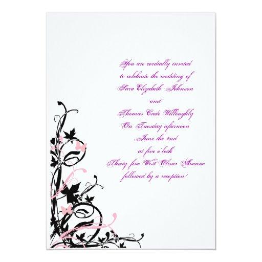 Black White Pink Wedding Invitation Template Y Invitations