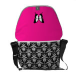 Black & White & Pink with Wings Commuter Bag
