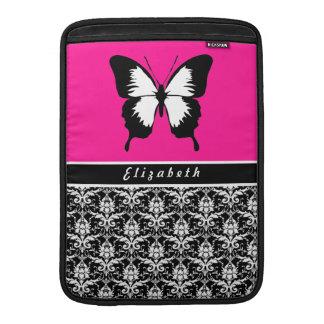 Black & White & Pink with Wings Custom MacBook Sleeve