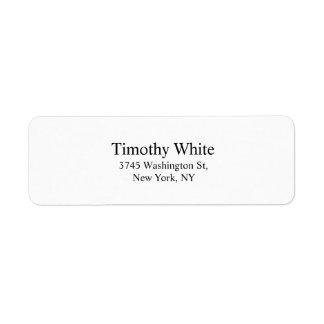 Black & White Plain Elegant Legible Modern Label