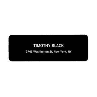 Black & White Plain Elegant Modern Unique Label