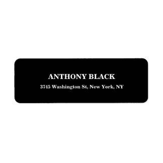 Black White Plain Masculine Elegant Modern Unique Label