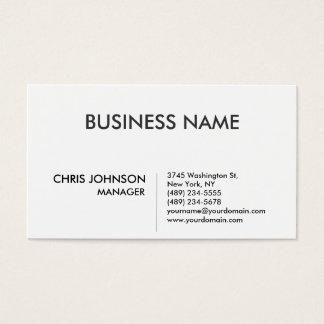 Black & White Plain Modern Business Card