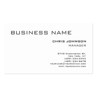 Black & White Plain Simple Manager Business Card