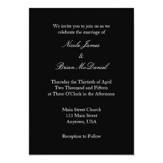 black_white_plain_simple_wedding_invitation reca7963d3d9f43f184d8d3248633f0ec_zkrqs_324?rlvnet=1 plain black invitations & announcements zazzle,Plain White Invitations