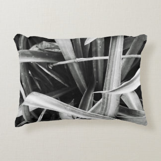 Black & White Plant Accent Pillow