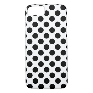 Black & White Poka Dot iPhone 8/7 Case