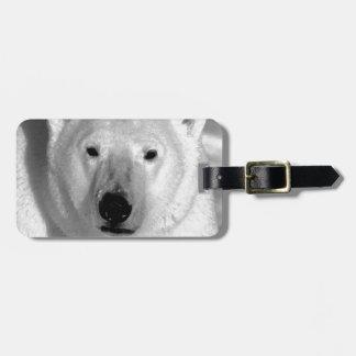 Black & White Polar Bear Bag Tag