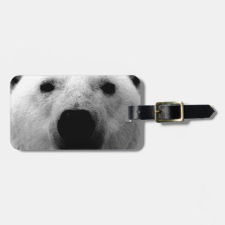 Black & White Polar Bear Bag Tag