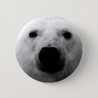 Black & White Polar Bear Button