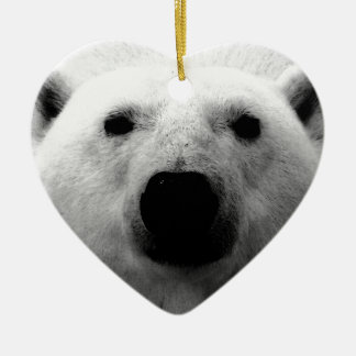 Black & White Polar Bear Ceramic Ornament