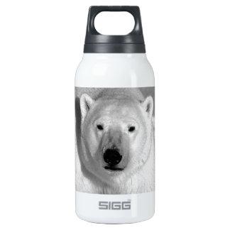 Black & White Polar Bear Insulated Water Bottle