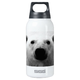 Black & White Polar Bear Insulated Water Bottle