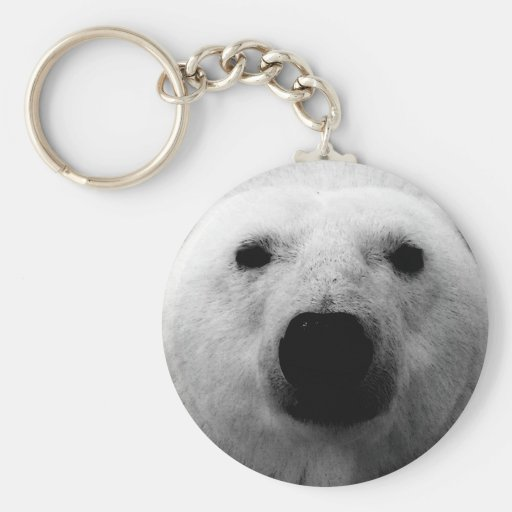 Black & White Polar Bear Keychain