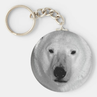 Black & White Polar Bear Keychain
