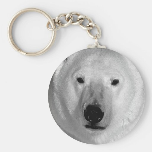 Black & White Polar Bear Key Chain