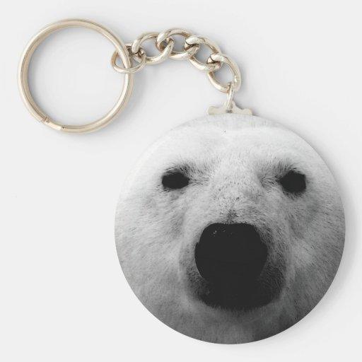 Black & White Polar Bear Key Chains
