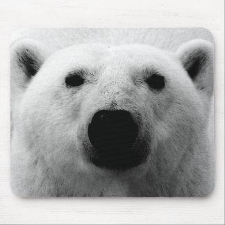 Black & White Polar Bear Mouse Pad
