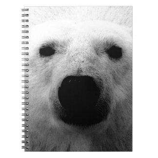 Black & White Polar Bear Spiral Notebook