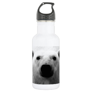 Black & White Polar Bear Stainless Steel Water Bottle