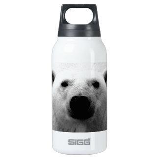 Black & White Polar Bear Thermos Water Bottle