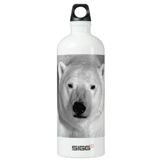 Black & White Polar Bear Water Bottle