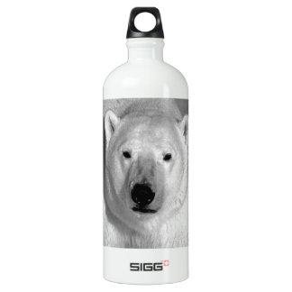 Black & White Polar Bear Water Bottle