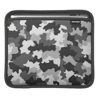 Black & White Polar Camouflage iPad Sleeve